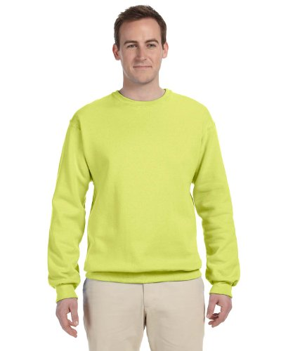 Jerzees NuBlend Sweat-shirt à col rond pour homme Vert Taille S