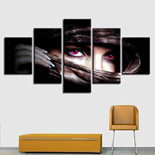 AMOHart Leinwanddrucke Moderne HD 5 Stück Spiel Charakter Poster Wandkunst Wohnzimmer Home Decor Drucke auf Leinwand Rahmen