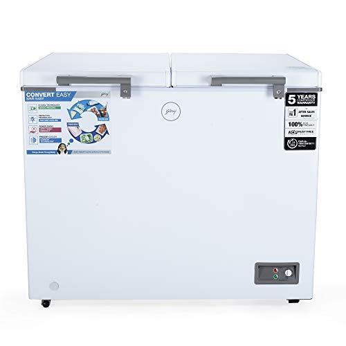 Godrej 300 L Double Door Freezer (DH EPenta 325C 31 CMFH2LM Rw, White, Convertible)