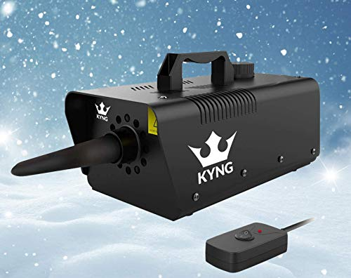 KYNG Snow Machine 650W Wired Remote Snow Maker Snowflake Maker for DJ Parties, Christmas, Holidays, Parties