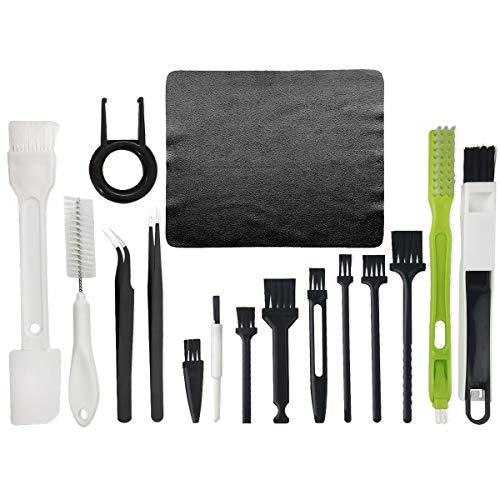 Kit de limpieza para teclado, kit de limpieza de PC, cepillo antiestático de plástico para computadora portátil, teclado y equipo electrónico