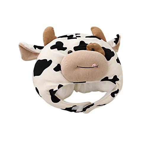 Almencla Sombrero de Vaca Beanie Diadema Ganado Lechero Sombreros de Fiesta Divertidos Disfraz de Vacaciones