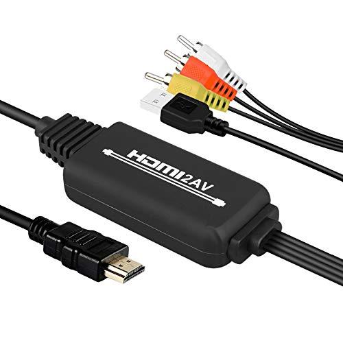 SNOWINSPRING Cable una AV 3RCA Cable Adaptador de Audio y Video una CVBS para TV Inteligente Android Set-Top Box Proyector Monitor