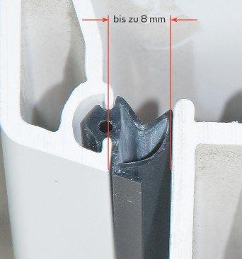 ToniTec Dichtung 25m Silikon für Fenster Kunststoffenster Türen schwarz