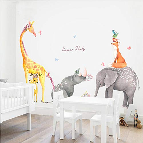 Pegatinas de pared de animales del bosque PVC protección del medio ambiente sala de niños a prueba de agua decoración de dormitorio de jardín de infantes aproximadamente 150 * 265.5 cm