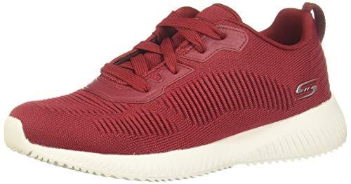 Skechers Damen BOBS Squad Tough Talk Sneaker, Red, 39 1/3 EU