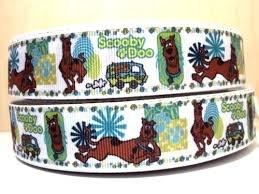 Nastro multicolore decorativo per torte e creazioni artistiche, con stampa dei personaggi della serie di cartoni animati Scooby Doo (Shaggy, Fred, Daphne e Velma), 25 mm di larghezza, venduto al metro