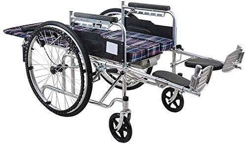 ZKAIAI Wheelchair,Elderly Care Wheelchair-Foldable Super Albuquerque Mall beauty product restock quality top Trave Steel