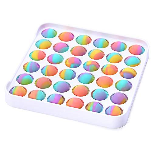 iSayhong Rainbow Push Pop Bubble Fidget Spielzeug, Anti-Angst-Werkzeug, Stress-Spielzeug für Kinder und Erwachsene Gr. Einheitsgröße, Mehrfarbig 1