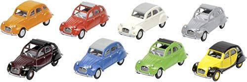 Schuco 452640100 Citroen 2CV, 8-er Set 1:87 452640100-Citroen, Modellauto, Modellfahrzeug, Mehrfarbig