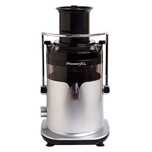 PowerXL Self-Cleaning Juicer Machine, Centrifugal Juice Extractor for Fruit and Vegetables with Anti-Drip, Extra-Wide Chute, Stainless Steel Blade, BPA-Free, Recipe Book (Standard 3 Speed)