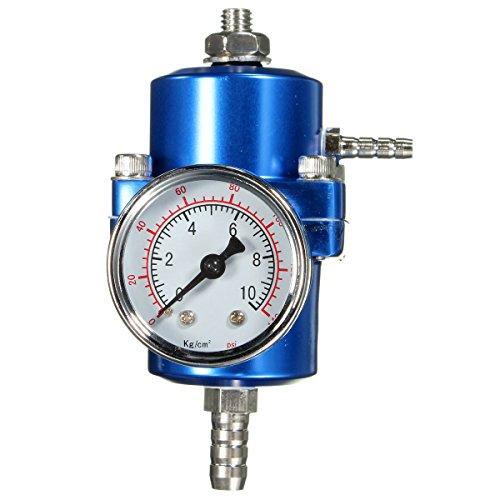 JenNiFer 0-140 Psi Blauer Kraftstoffdruckregler Einstellbare Druckanzeige
