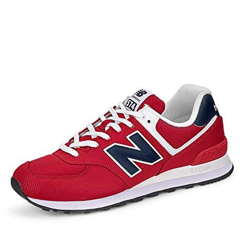 New Balance Herren 574v2 Sneaker, Rot (Red/Navy Sch), 44 EU