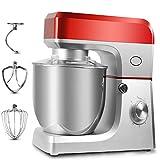 YARUMD FOOD Batidora Eléctrica 7 L para Alimentos,Batidoras Amasadoras 5 Niveles Mezclador De Pan, Tazón De Acero Inoxidable, Batidora De Crema para Huevos