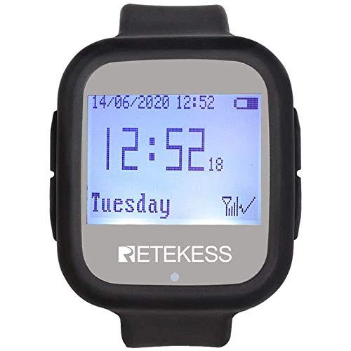Retekess TD106 Sistema de Buscapersonas Inalámbrico Reloj Receptor 433Mhz para...