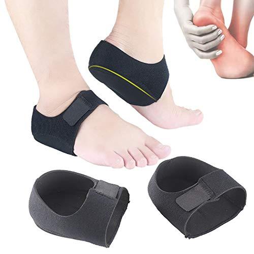 Fersensporn Bandage Silikon, Kapmore Ferse Socken 1 Paar Fersensocken Heel Wrap Verstellbare Atmungsaktive Plantarfasziitis Wrap Fersenschutz