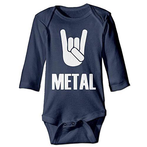 ARTOPB Unisex Newborn Bodysuits Heavy Metal Baby Babysuit Long Sleeve