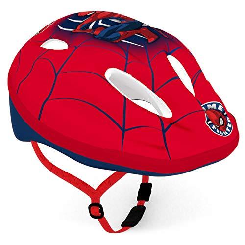 Disney Jungen Spiderman Fahrradhelm, Mehrfarbig, Größe: 52-56cm