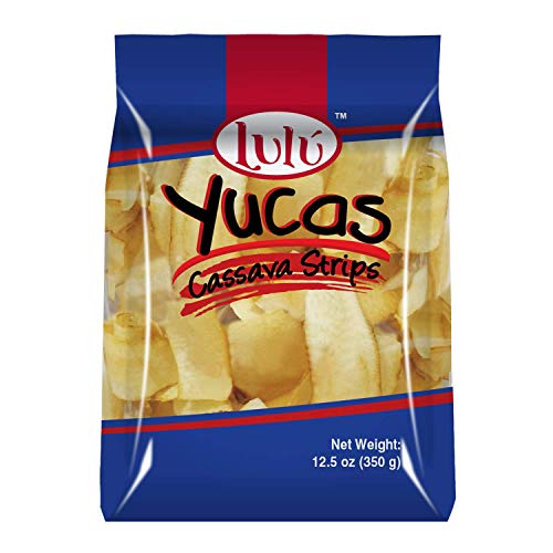 Lulu Cassava Strips - 2 UNITS PER CASE - 12 oz - Yuca chips - Family Size - Party Size - Simple Ingredients - No additional flavors