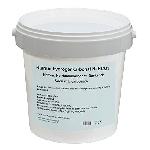 Aqua Light Natriumhydrogenkarbonat 7kg - NaHCO3, Natron, Natriumbikarbonat, Backsoda, E500ii, Sodium Carbonate