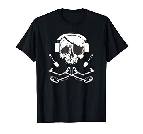 Detector de metales skull Detectoring Metaldetector Camiseta