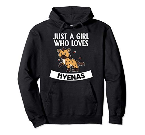 Just A Girl Who Loves Hyenas Disfraz De Hiena Sudadera con Capucha