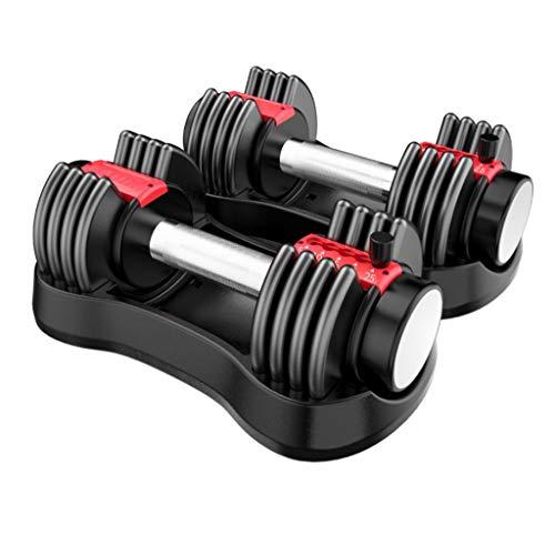 Afairy Peso de mancuerna Ajustable Peso Total 50 LB Home Gym Gym Equipo de Ejercicio Entrenamiento Cuerpo Edificio Fitness, Soltero (Color : Black)