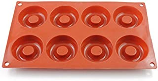 Freshyware 8 Cavity Special Yummy Donut Shaped Silicone Mold for Soap Making Mini Bath Bomb Crafts Candy Chocolate bar Assort Color Art Molds Silicone Design 60