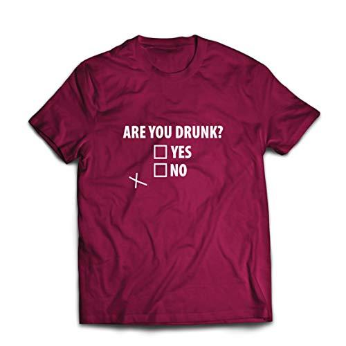 lepni.me Camisetas Hombre ¿Estás Borracho, Bebiendo Alcohol de Regalo en la Fiesta?