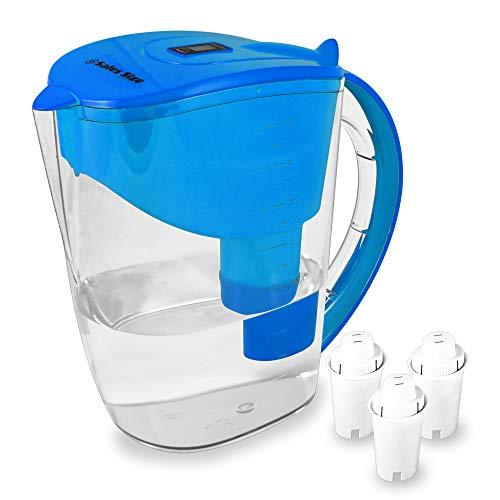 Caraffa per Filtro Acqua 3,5L SS – Caraffa Filtrante, Filtro Alcalina a 6 fasi - BPA Free, Garantito per rimuovere più contaminanti Approvato FDA – 3 Cartucce incluse compatibili con altre brocche