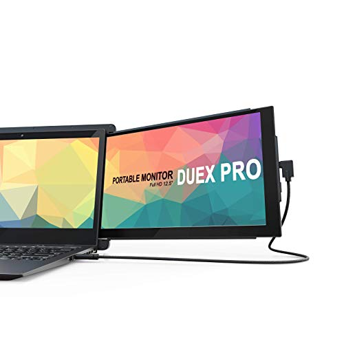 Duex Pro Upgraded Portable Monitor 12.5' Full HD IPS Display USB A/Type-C Powered Dual-Screen...