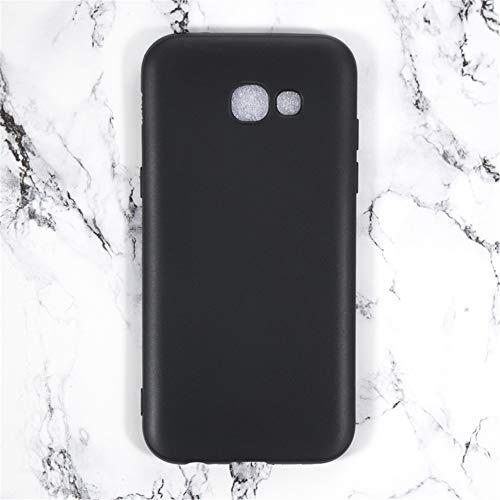 Capa para Samsung Galaxy A5 2017 A520, capa traseira de TPU macia resistente a arranhões à prova de choque de borracha de gel de silicone anti-impressões digitais Capa protetora de corpo inteiro para Samsung Galaxy A5 2017 A520 (preta)