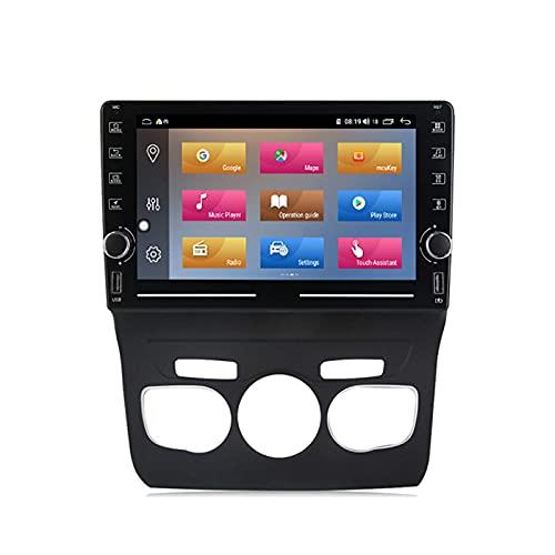 Navegación por satélite estéreo para automóvil Adecuado para Citroen C4 2013-2016 GPS Unidad principal estéreo táctil capacitiva HD Carplay Radio Multimedia Sistema de radio incorporado Rastreador, 4