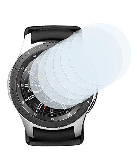 mumbi Schutzfolie kompatibel mit Samsung Galaxy Watch 46mm Folie klar, Bildschirmschutzfolie (6X)