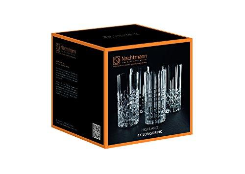 Spiegelau & Nachtmann, 4-teiliges Longdrink-Set, Kristallglas, 445 ml, Highland, 0097784-0 - 9