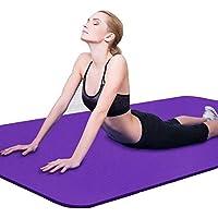 Binwwe Esterilla de Yoga Esterilla de Ejercicio Antideslizante Gruesa para Entrenamiento en el Hogar Gimnasio Fitness Deportes Almohadilla de Ejercicio (Purple, 173cmX60cmX0.6cm)