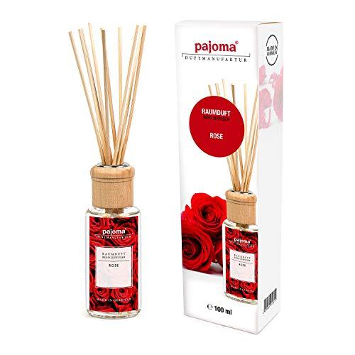Pajoma Raumduft \'\'Rose\'\' Modern Line inkl. 10 Bambusstäbchen, 1 x 100 ml in schicker Geschenkverpackung