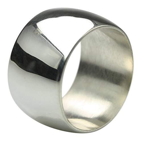 Breiter eleganter 925er Silberring ca. 16 Gramm, Größe:Größe 58 (18.5) mm