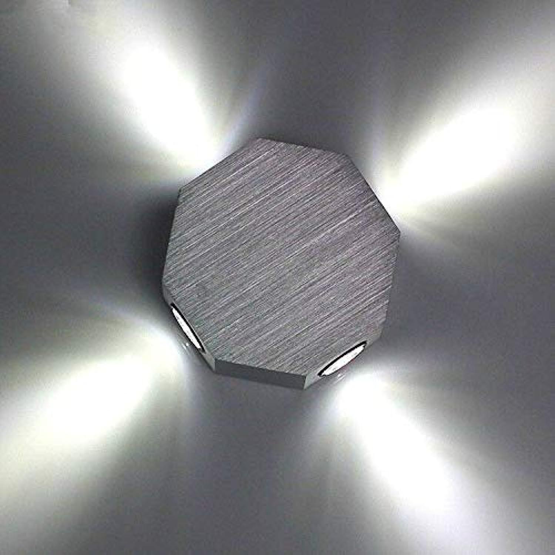 VLING Wandlampe, Modern Modern Wandlampen & Wandlampen Wandleuchte aus Metall 90-240V Max 4W, Wei