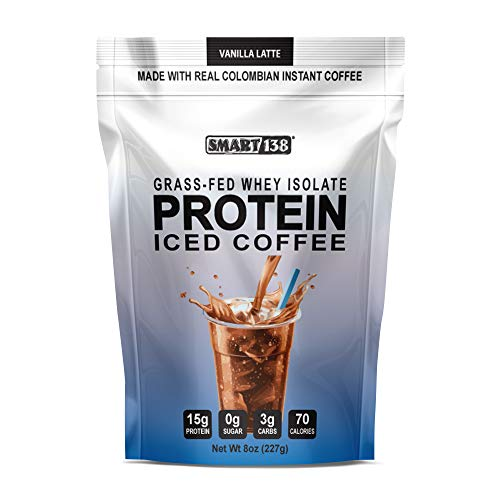 Keto Coffee - Instant Ketogenic Coffee, Real Colombian Coffee, Drink Mix (ICED COFFEE, 8oz)