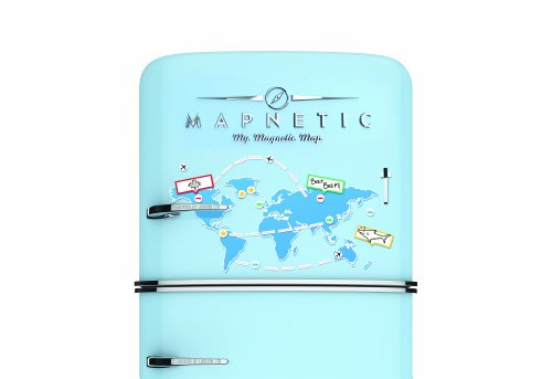 Mapnetic Map - A Magnetic World Map With Dry Wipe Set, Travel Gift - Luckies of London Photo #4