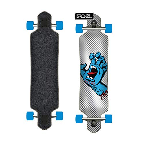 "Santa Cruz Longboard Complete Screaming Hand Foil Drop Thru Silver 9.2"" x 41"""