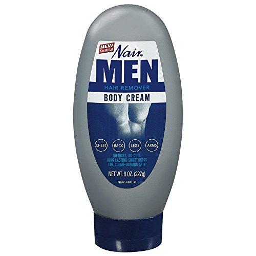 Nair Hair Remover for Men, Body Cream, 8 oz.
