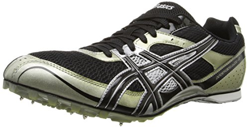 ASICS Men's Hyper MD Track And Field Shoe,Black/Onyx/Silver,11.5 M