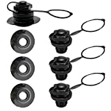 JUXATECH Air Valve Caps Screw Valve, Inflatable Boat Spiral for Inflatable Boat Air Bed Kayak Canoe...