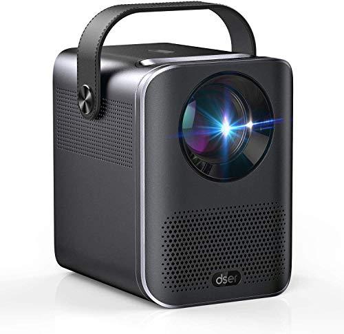 """Dser Mini Beamer, Unterstützt 1080P Full HD Beamer, 160\"""" Display ,Elektronische Korrektur,Dual Lautsprecher, 4000 Lumen, 60.000 Std LED Mini Projektor Heimkino für Fire TV/Laptops/PC/PS4/HDMI/USB"""