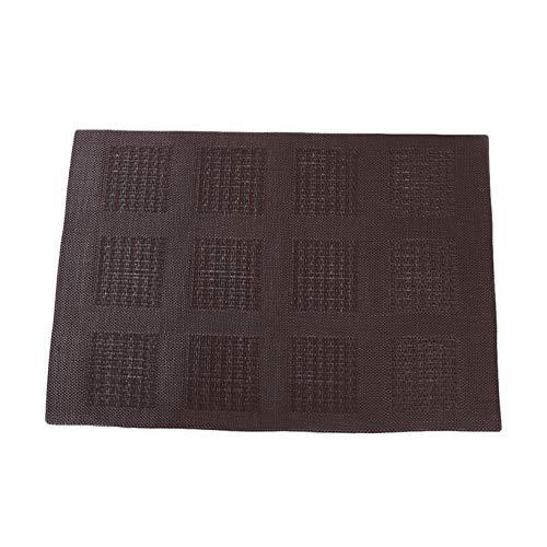 Aiasiry Mantel Individual Impermeable De PVC Lavable con Celosía Simple, Marrón
