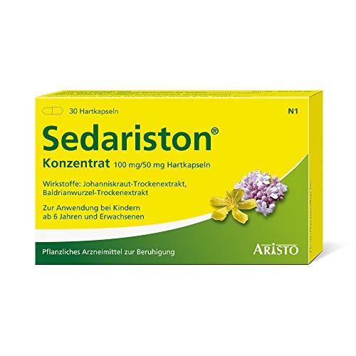 Sedariston® Konzentrat bei Unruhe, Stress, Anspannung, Schlafstörungen, pflanzliches Arzneimittel aus Johanniskraut + Baldrian, 30 Stk