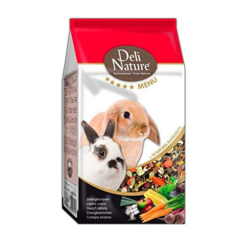 DELINATURE Mixtura para Conejos Enanos, Menú 5*, Delinature, 750 g, Pequeños Mamíferos