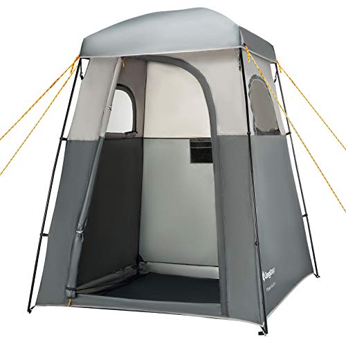 KingCamp Oversize Outdoor Easy Up Portable Dressing Changing Room Shower Privacy Shelter Tent (Grey Advanced)